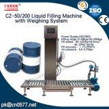 Máquina de enchimento líquida do tambor com peso do sistema para o líquido refrigerante (CZ-50/200)