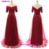 Kreuzweise Chiffon- fette lange Brautjunfer-Kleid-Muster