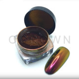 Material de Arte de uñas de gel de espejo, un camaleón de polvo de pigmento de polaco