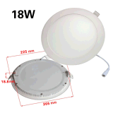 6W ultra sottile LED Downlight