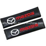 Le carbone de ceinture de sécurité de logo de véhicule de Mazda couvre des garnitures d'épaule