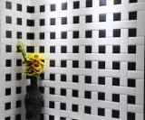 白の4X16inch/10X40cm艶をかけられた斜めの陶磁器の壁の地下鉄のタイルの浴室または台所装飾