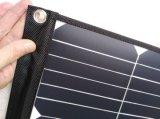 60W Sunpower Foldable 유연한 연약한 탄력 있는 휴대용 태양 이동 전화 힘 위원회 충전기 부대