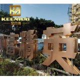 Dvp metal revestido de cor dourada de Aço Inoxidável sinais de letra para publicidade