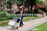 Camion di pallet di plastica poco costoso della mano del carrello del giardino della rotella del camion di mano (YH-HK014)