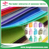 Tela no tejida del surtidor de Fujian con los colores múltiples para el bolso de compras
