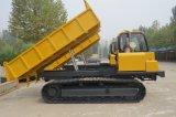 De volledige Rubber Gevolgde Kipwagen van de Vrachtwagen van de Kipwagen 7 Ton voor Verkoop