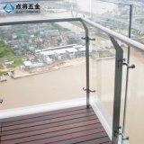 Barandilla de cristal ampliamente utilizada del balcón con precio de fábrica