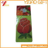 Ambientador de aire de encargo del papel de la dimensión de una variable de la fruta de la venta caliente/ambientador de aire del coche con la tarjeta de papel (YB-ds-02)