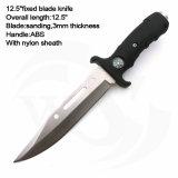 """12.5 """" общих черных кинжалов ручки ABS с лезвием сатинировки"""