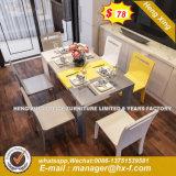 Mármol amarillo de acero exterior mesa de comedor (HX-8DN001)