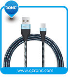 Горячий продавать нейлоновой оплеткой оптовой длинный кабель micro-USB