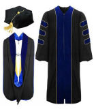 Il dottore su ordinazione Cap Tassel Dress Gown di graduazione di alta qualità