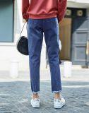 As mulheres Jeans calças de ganga de algodão