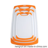 Color blanco 100% de grado alimentario PP tabla de cortar, picar Junta 25*15*0.9cm