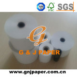 Papier thermosensible blanc de petite taille de bobine pour le distributeur automatique de billets
