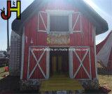 Großer aufblasbarer Stall-grosser roter Stall-Bauernhof-aufblasbares Stall-Schlag-Haus