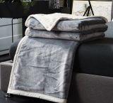 静かに軽量の投球のビロード毛布すべての季節の珊瑚の羊毛毛布