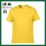 Maglietta rotonda del collo del cotone su ordinazione di qualità per gli uomini