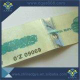 Bleu Ligne de filetage de la sécurité Ticket avec filigrane Design personnalisé