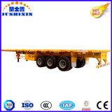 Eje 3 de superficie plana de la plataforma semi-remolques de camiones de transporte de contenedores