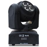 최고 광속 4X10 W RGBW 이동하는 맨 위 빛이 DJ에 의하여 LED 점화한다