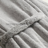 バスローブの珊瑚の羊毛の着物カラー浴衣