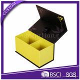 Cartulina cuadrada rígida brillante que empaqueta los rectángulos cosméticos impresos