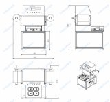 Le bac d'étanchéité /bac Semi-Auto emballeur /la case vide de la machine d'étanchéité