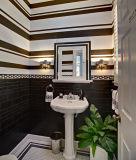 Negro de 4 x 12 pulgadas/10x30cm pared de azulejos de cerámica vidriada de Metro baño cocina Decoración