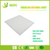 luz del panel plana de 595*595m m 40W 4000lm LED con el certificado