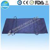 La bolsa para transportar cadáveres durable gruesa del entierro de la maneta del PVC de la alta calidad