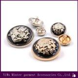 Acessórios de vestuário de moda botão circular metálica para vestuário de costura