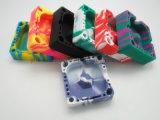Cenicero de vidrio irrompible de silicona de colores con precios baratos para promoción
