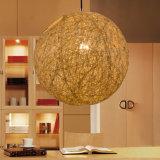 Luz euro moderna de la lámpara pendiente de la bola de la rota de la vendimia de las mercancías caseras