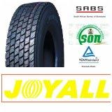 12r22.5 18pr Joyall 상표 드라이브 위치 강철 광선 궤도 TBR 타이어