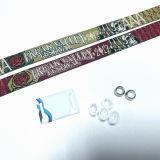 La norma ISO15693 ICODE SLIX Music Festival tejidas pulseras RFID personalizado