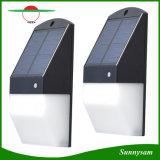Solar de 25 LED de luz del sensor de radar de la pared del jardín de la seguridad de la luz de la iluminación exterior