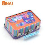Коробка ручки металла для упаковывать подарков и ювелирных изделий девушки