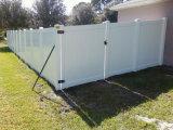 Puerta modificada para requisitos particulares de la cerca del PVC de la yarda