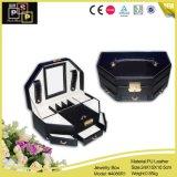 Contenitore di imballaggio di lusso su ordinazione dei monili del cassetto del cuoio del contenitore di monili (4086)