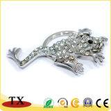 中国のカスタム動物のカエルの形のキーホルダーで製造する