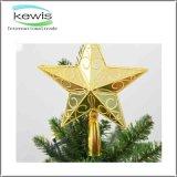 休日の2017年の手仕事の星のクリスマスの装飾の球