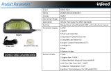Fazer903 Dash Corrida Exibir medidor de calibre, tela de LCD do painel de bordo; Obdll o Bluetooth