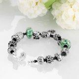 Regalo de moda de perlas de vidrio en forma de corazón Pulsera ajustable Joyas