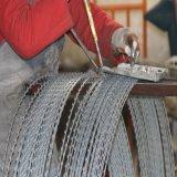 ワイヤーを囲うかみそりの有刺鉄線Bto-22のステンレス鋼のかみそりの刃