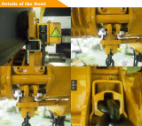 500kg-10 tonne palan électrique à chaîne avec une faible marge de manoeuvre