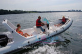 Liya 6,6 m yacht de luxe bateau gonflable rigide Rib bateau de luxe