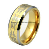 Boucle de tungstène de laser de placage à l'or de qualité de corps de bijou (TSTG006)