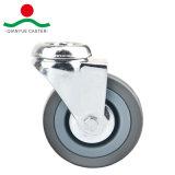 Roulette légers en caoutchouc gris de frein supérieure